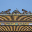 Vietnam Hué Citadel: Roof decoration on Hall of Supreme Harmony — Stock Photo