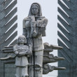 Vietnam - DMZ: detail of war memorial showing mother and child. — Stock Photo