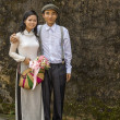 Stock Photo: Vietnam Hué - 18 March 2012: Beautiful Bride and Groom.