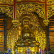 Stock Photo: Vietnam ChuBai Dinh Pagoda: Giant Golden Buddhstatue.
