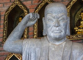 Vietnam Chua Bai Dinh Pagoda: Close up of Buddhist Philosopher. — Stock Photo