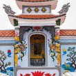 Stock Photo: Vietnam Quang Binh Province: Shrine as altar on family grave plot.