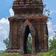 Looking through one of the Banh It Cham towers. — Photo