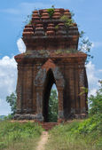 Looking through one of the Banh It Cham towers. — Stock Photo
