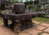Linga in the Yoni at My Son Cham Sanctuary. — Stock Photo