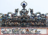 Example of ceramic decorations at Thien Hau Pagoda in Saigon. — Stock Photo