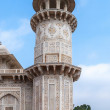 Marble minaret of Agra's Baby Taj mausoleum in India. — Stock Photo