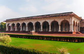 Royal hall to receive public at Agra Fort in India. — Stock Photo