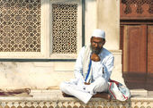 Indian town of Fatehpur - February 2011 Muslim cleric. — Stock Photo