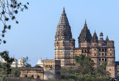 Chaturbhuj Temple for Rama King God at sunset in India's Orchha. — Stock Photo