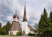 The historic church of Tornio in Finnish Lapland. — Foto de Stock