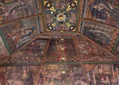 Paintings on ceiling in Tornio Church, Finnish Lapland. — Stock Photo