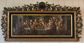 Last Supper painting in Tornio Church, Finnish Lapland. — Stock Photo