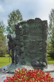Jaeger Monument in Tornio, Finnish Lapland. — Stock Photo