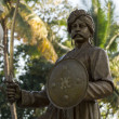 Close-up of statue of Kempe Gowda, founder of Bangalore. — Stock Photo