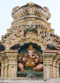 Statue of Ganesha on top of Nandi Temple in Bangalore. — Stock Photo