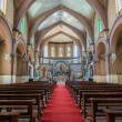 Inside the Sacred Heart Church in Bangalore. — Stock Photo