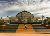 Glass house at Lal Bagh Botanical Garden in Bengaluru. — Stock Photo