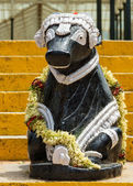 Nandi statue at Lal Bagh Botanical Garden in Bengaluru. — Stock Photo