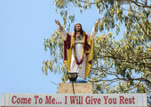 Statue of Sacred Heart in Bengaluru. — Stock Photo