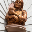 Stock Photo: Mother TheresStatue at Saint Mary's Basilicin Bangalore.