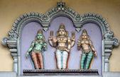 Lord Murugan and his two wives, Valli and Deivayanai. — Foto de Stock