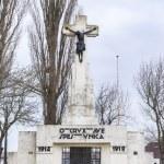 Calvary statue as World War I memorial. — Stock Photo