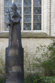 Statue of Paul Goethals, first archbishop of Kolkata, India. — Stock Photo