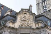 Antique fresco of the Mammelokker at side of Belfry in Ghent. — Stock Photo