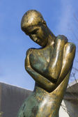 'Spring of the Bereaved' Statue, in Ghent. Close-up. — 图库照片