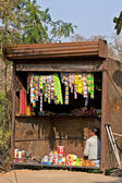 Typical small shop selling basic products in Indian villages. — Stock Photo