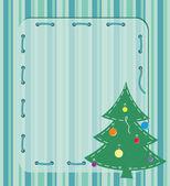 Kaart met kerstboom — Stockvector