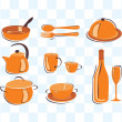 Stock Vector: Cookware