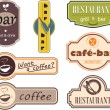 Royalty-Free Stock Vectorafbeeldingen: Restaurant decor sign