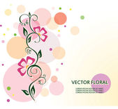 Color background curly FLOWER — Stock Vector