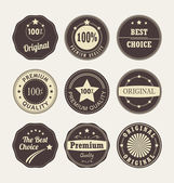Vintage style retro emblem label collection — Stock Vector