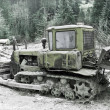 Stock Photo: Caterpillar of Russiproduction in gray