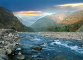 Mountain river of the Himalayas — Stock Photo