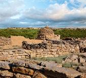 The ruins of an Muslim cemetery in Ustyurt — Stock Photo