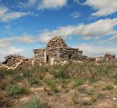 Islamic cemetery in the desert Ustyurt — ストック写真
