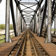 Railway bridge in Eastern Europe — Stock Photo