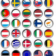 All EU flags in buttons — Stock Photo