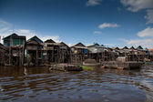 Houses on stilts in Cambodia — Stock Photo