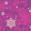 Stock Photo: Vintage background with snowflakes