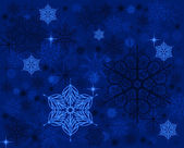 Blue background with snowflakes — Stock Photo