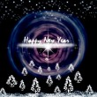 Greeting card with New Year - Foto Stock