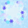 Round frame of snowflakes — Stock Photo