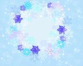 Marco redondo de copos de nieve — Foto de Stock