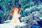 Christmas card with an angel — Stock Photo