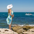 Pregnant womand sea — Stock Photo #12312574